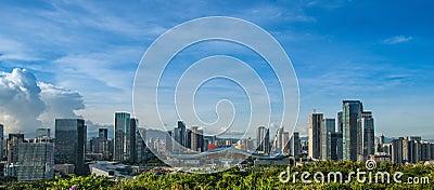 Centro cívico CBD de Shenzhen Imagem de Stock Editorial
