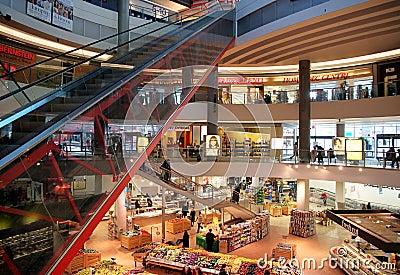 Centro comercial Imagen de archivo editorial
