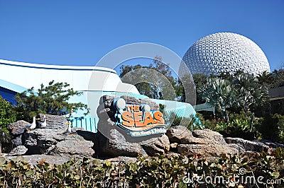 Centro de Disney Epcot e os mares Foto de Stock Editorial