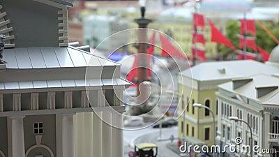 Centro di Sankt Pietroburgo e della colonna del rastralnye stock footage