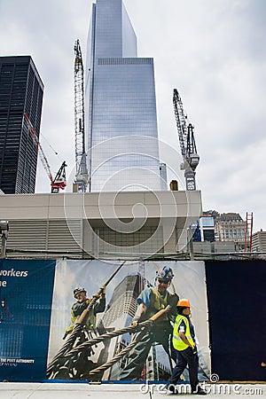 Centro financiero de mundo Fotografía editorial