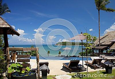 Centro turístico del hotel en Tailandia