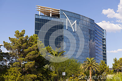 Centro turístico exterior en Las Vegas, nanovoltio de M el 20 de agosto de 2013 Foto editorial