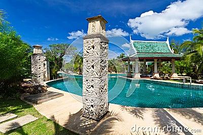 Centro turístico tropical en Tailandia