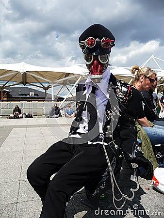 Centrum cosplay wydarzenie przoduje londons Fotografia Editorial