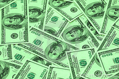 Cents arra de billets de banque du dollar