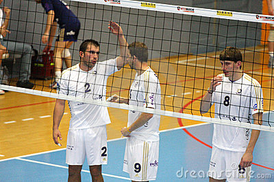 Centurions Narbonne vs Paris Volley Editorial Stock Image