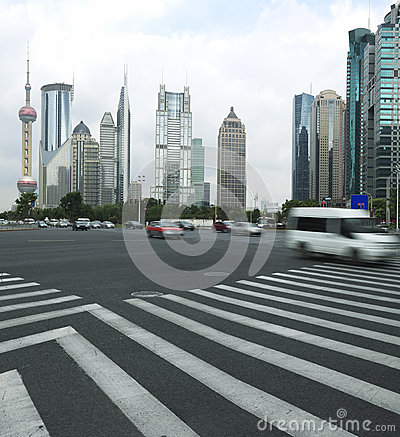 The century avenue of  street scene in Lujiazui