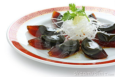 Century egg , chinese food