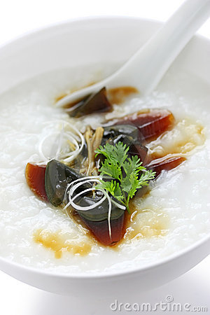 Century egg congee , chinese food