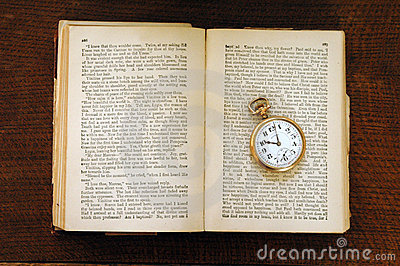 Century Old Book and Pocket Watch