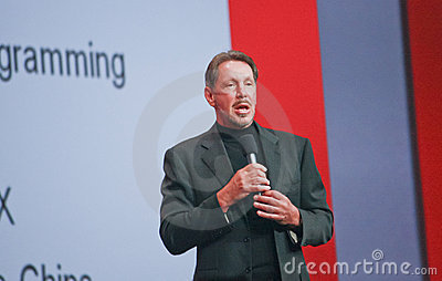 CEO of Oracle Larry Ellison Editorial Stock Image