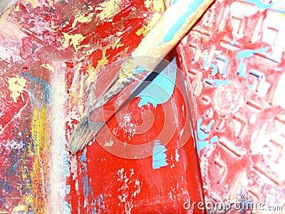 Cepillo de pintura del artista