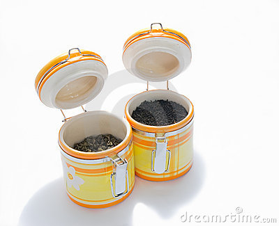 Ceramic banks for tea