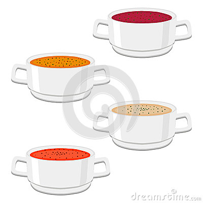 The ceramic bowl Vector Illustration