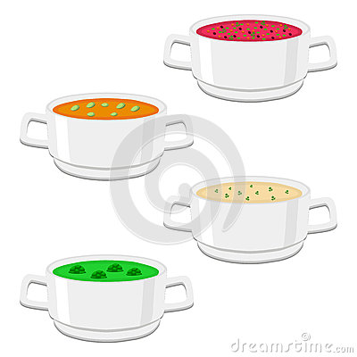 The ceramic bowl Vector Illustration