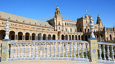 Ceramic bridge, Plaza de Espana, Seville, Spain