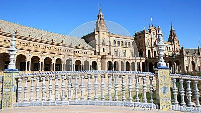 Ceramic bridge, Plaza de Espana, Seville, Spain