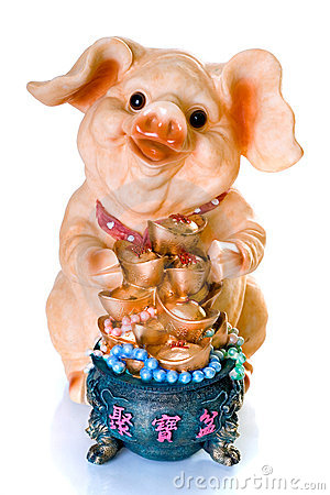 Ceramic chinese new year pig gift