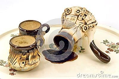 Ceramic coffee set