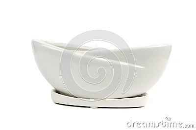 a ceramic container