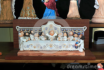 Ceramic craft figurines Editorial Stock Image
