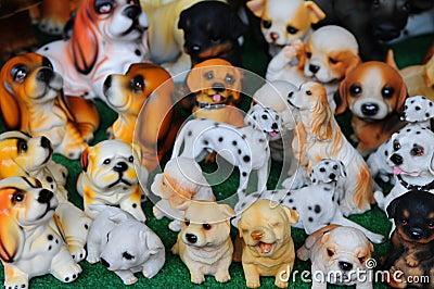 The ceramic dogs