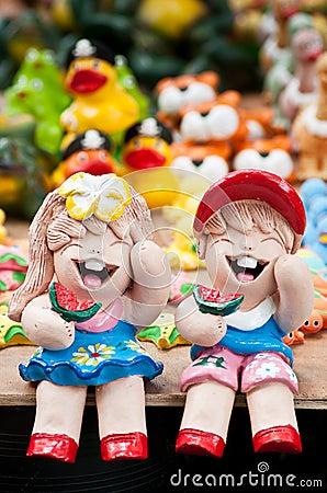 Ceramic dolls
