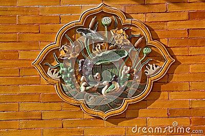 Ceramic Ducks Decoration Yellow Wall Beijing