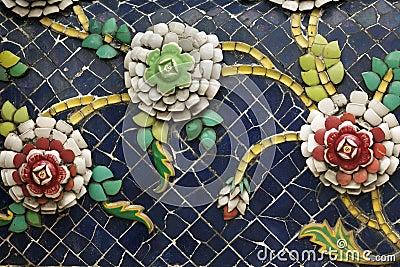 Ceramic flower ornament