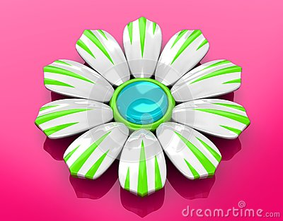 Ceramic Flower on Rose Background