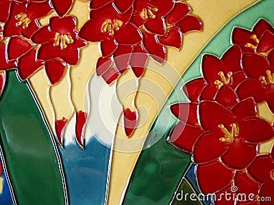 Ceramic glazed painting