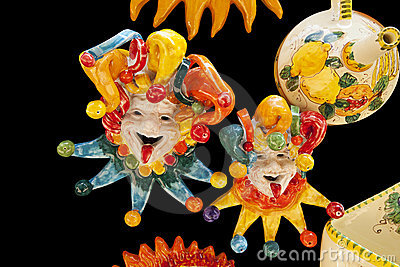 Ceramic Italian Clowns