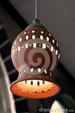 Ceramic light shade