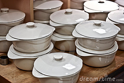 Ceramic Pans on a Table