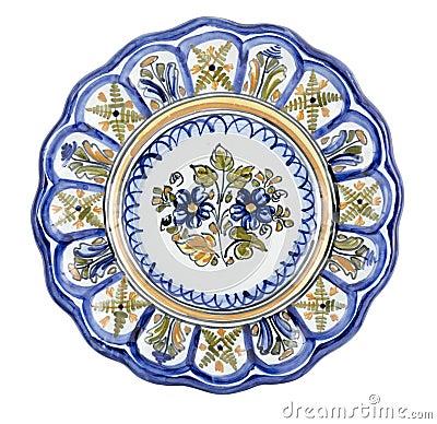 Ceramic Plate Lobed
