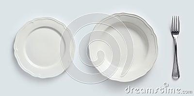 Ceramic plates & cutlery