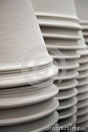 Ceramic pots in a stack