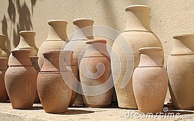 Ceramic pots in Turkey