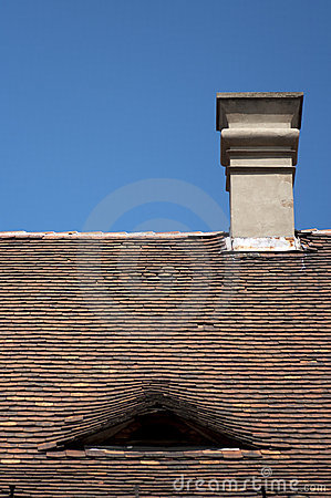 Ceramic roof tiles in Budapest, Hungary
