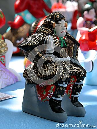Ceramic samurai