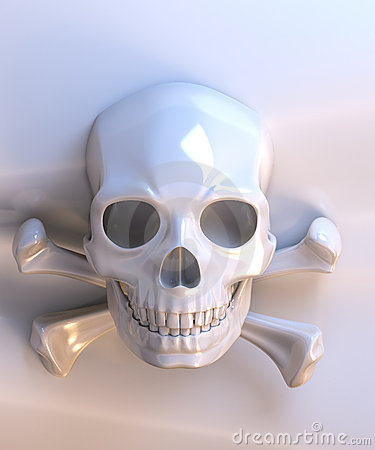 Ceramic skull and bones
