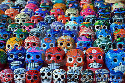 Ceramic Skulls for Sale at Chichen Itza, Mexico