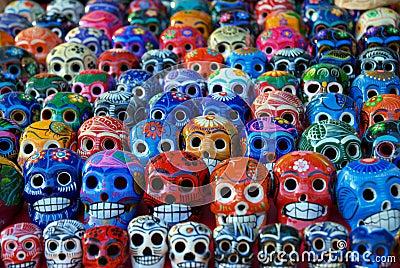 Ceramic Skulls for Sale at Chichen Itza, Mexico