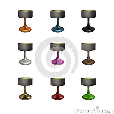 Ceramic Table Lamp Set