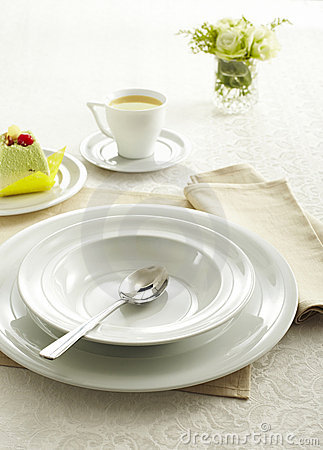Ceramic tableware and Soupspoon