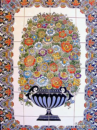 A ceramic tile,