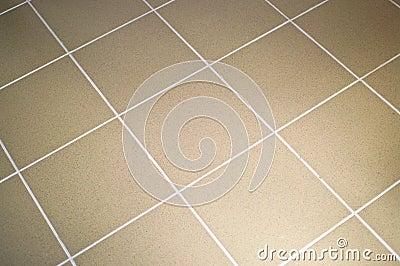 Ceramic tile floor brown color
