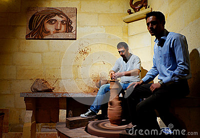 Ceramic workshop in Turkey Editorial Image