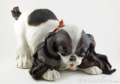 Ceramics puppy figurine
